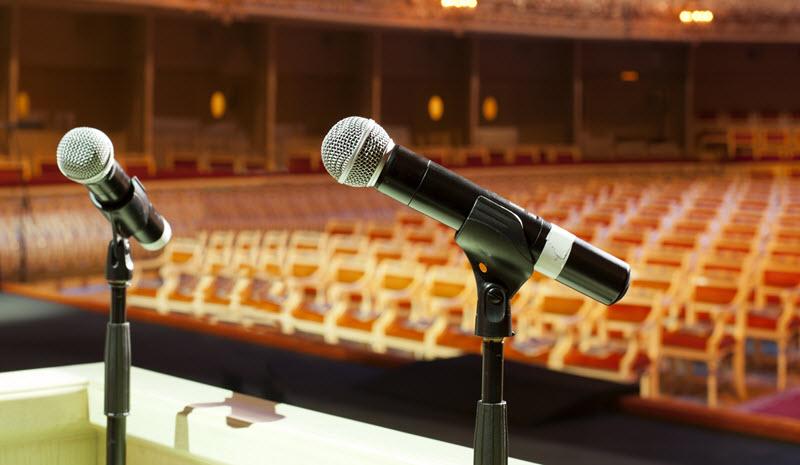 Speakers Podium – Exhibitors Rentals and Services